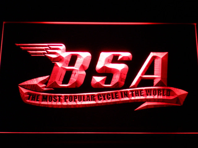 BSA Motorcycles Cycle LED Sign - Red - TheLedHeroes
