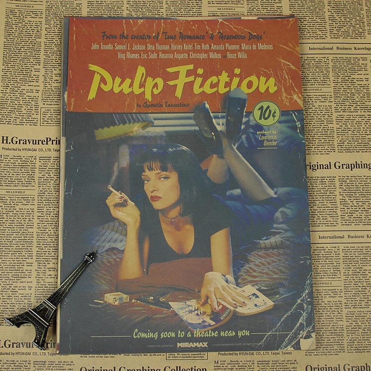 Vintage Pulp Fiction Wall Decor - Black - TheLedHeroes