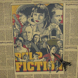 Vintage Pulp Fiction Wall Decor - Blue - TheLedHeroes