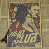 Retro Fight Club Poster - Red - TheLedHeroes