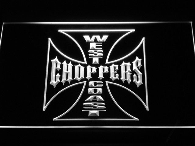 West Coast Choppers Bike Logo LED Sign - White - TheLedHeroes