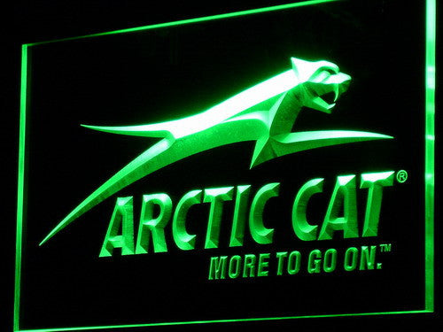 Arctic Cat Snowmobiles Logo LED Sign - Green - TheLedHeroes
