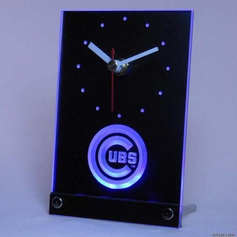 Chicago Cubs Table Desk 3D LED Clock -  - TheLedHeroes
