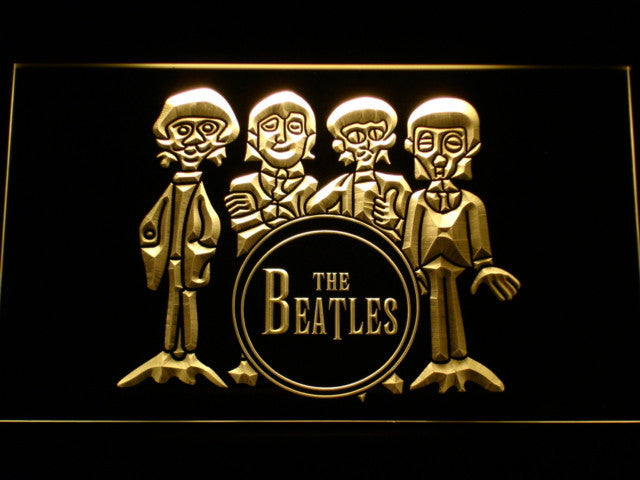 The Beatles Drum Band Bar LED Sign - Multicolor - TheLedHeroes