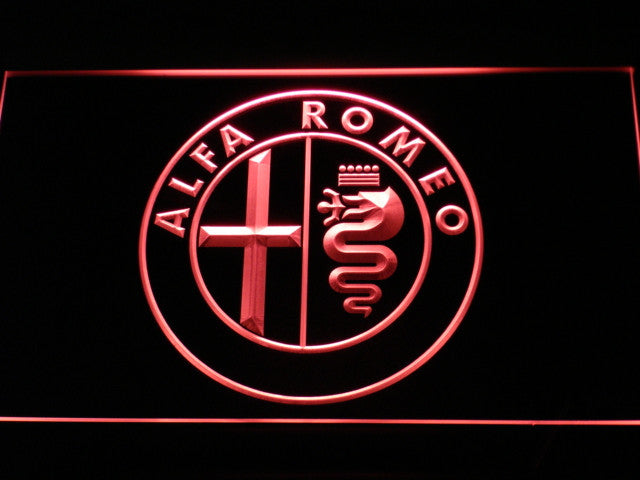 Alfa Romeo LED Sign - Red - TheLedHeroes