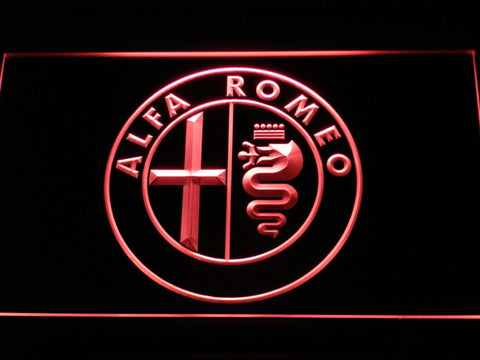 Alfa Romeo Car Services Parts LED Neon Sign with On/Off Switch 7 Colors to choose
