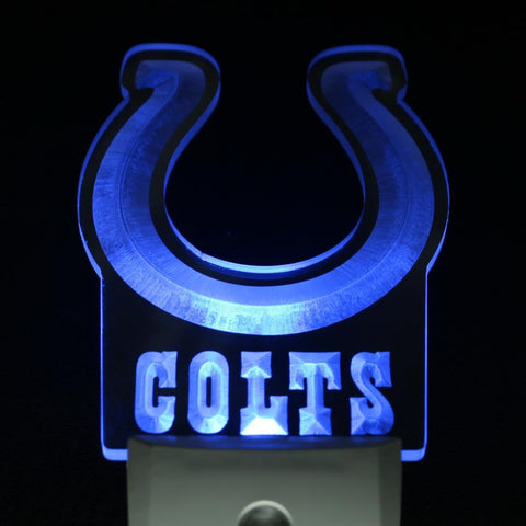 Indianapolis Colts Sport Bar Day/ Night Sensor Led Night Light Sign