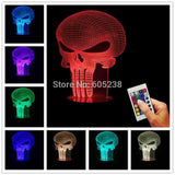 Punisher Skull 3D LED LAMP -  - TheLedHeroes