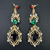Long Crystal Drop Earrings - mix color - TheLedHeroes