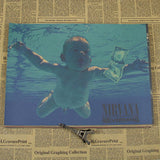 Nirvana - Kurt Cobain Wall Poster - Light Green - TheLedHeroes