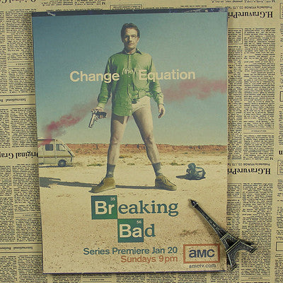 Breaking Bad Wall Poster - Black - TheLedHeroes
