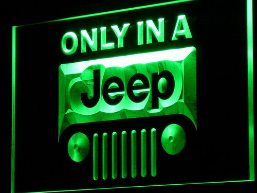 Jeep only in LED Sign - Green - TheLedHeroes