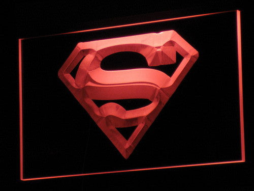 Superman Hero Cave LED Sign - Red - TheLedHeroes