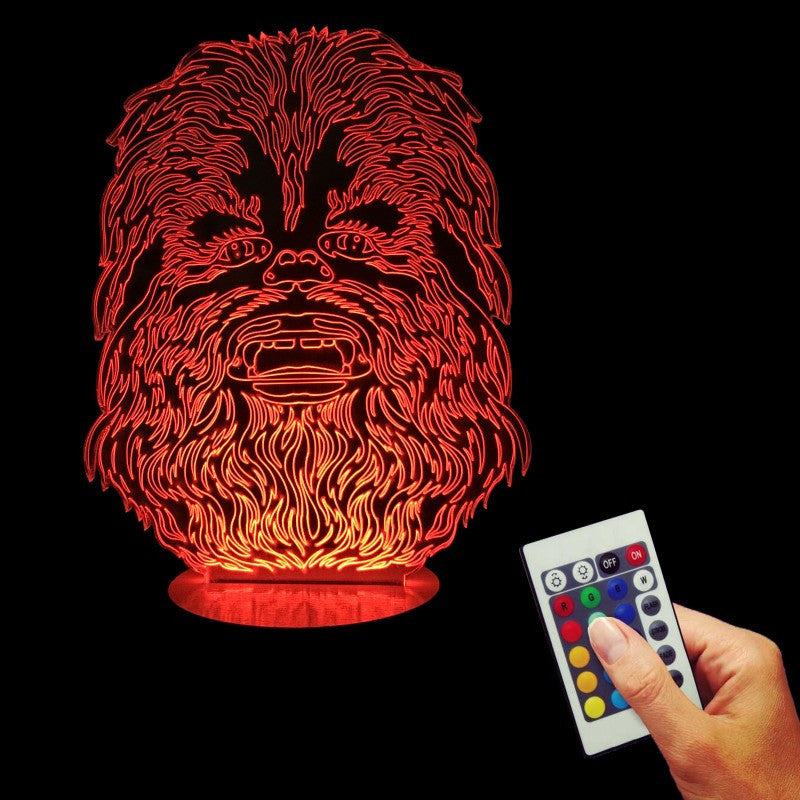 Chewbacca 3D LED LAMP -  - TheLedHeroes