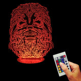 Chewbacca 3D LED LAMP