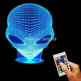 Alien 3D LED LAMP -  - TheLedHeroes