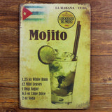 Mojito Cocktail Vintage Sign -  - TheLedHeroes