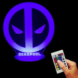 Deadpool Logo 3D LED LAMP -  - TheLedHeroes