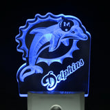 Miami Dolphins Badge Bar Beer Day/ Night Sensor Led Night Light Sign