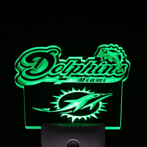 Miami Dolphins Footbal Bar Day/ Night Sensor Led Night Light Sign