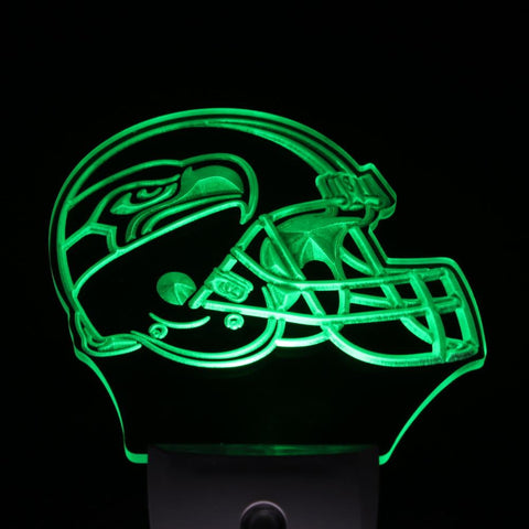 Seattle Seahawks Helmet Bar Day/ Night Sensor Led Night Light Sign