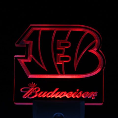 Cincinnati Bengals Budweiser Day/ Night Sensor Led Night Light Sign