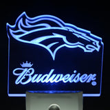 Denver Broncos Budweiser Club Day/ Night Sensor Led Night Light Sign