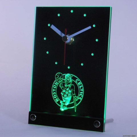 Boston Celtics Desk LED Clock - Green - TheLedHeroes