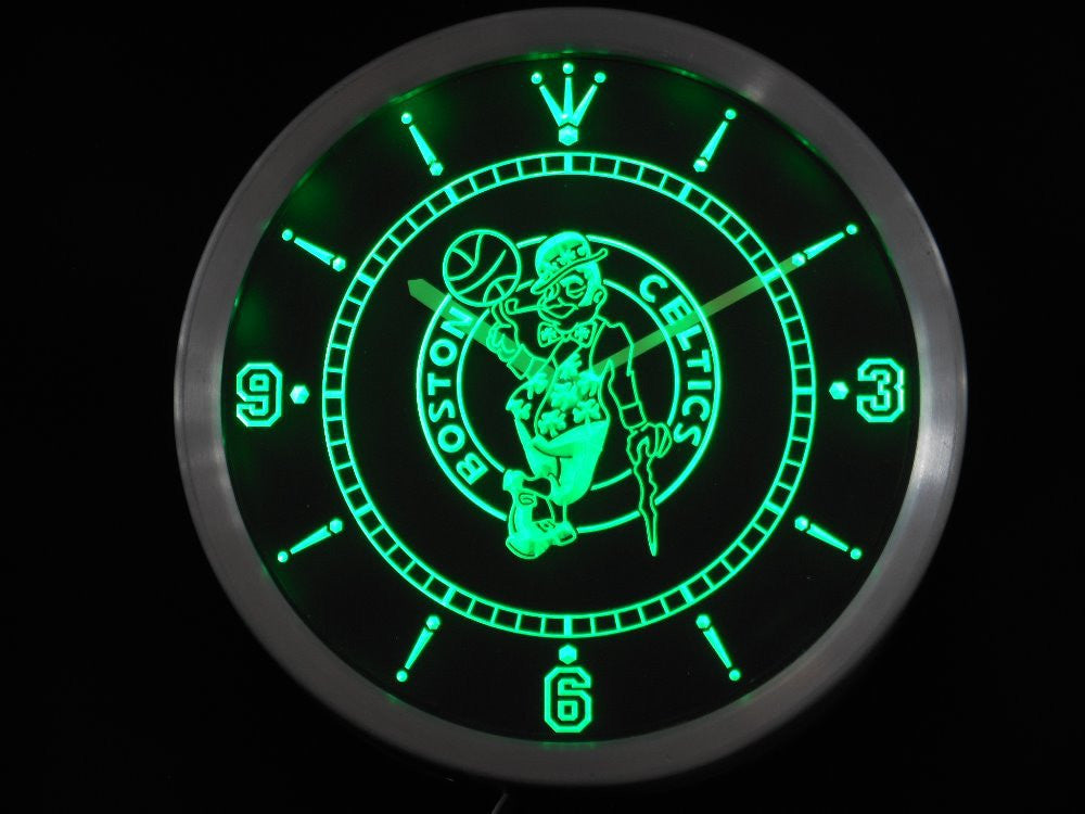 Boston Celtics LED Wall Clock - Green - TheLedHeroes