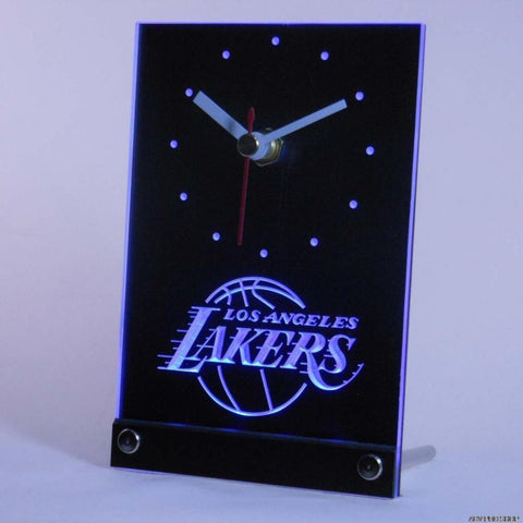 LA Lakers LED Desk Clock
