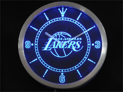 LA Lakers Neon LED Wall Clock
