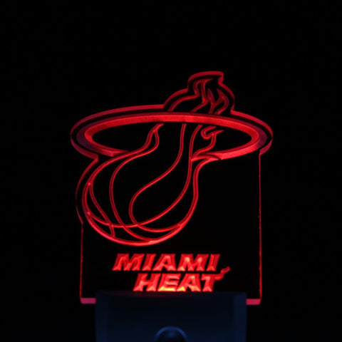 Miami Heat  Night Sensor LED Neon Sign