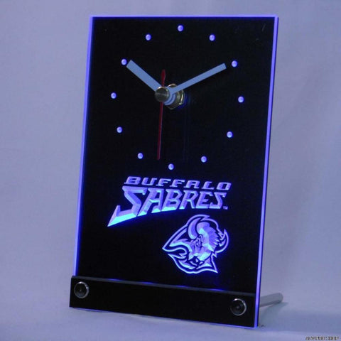Buffalo Sabres Desk LED Clock - Blue - TheLedHeroes
