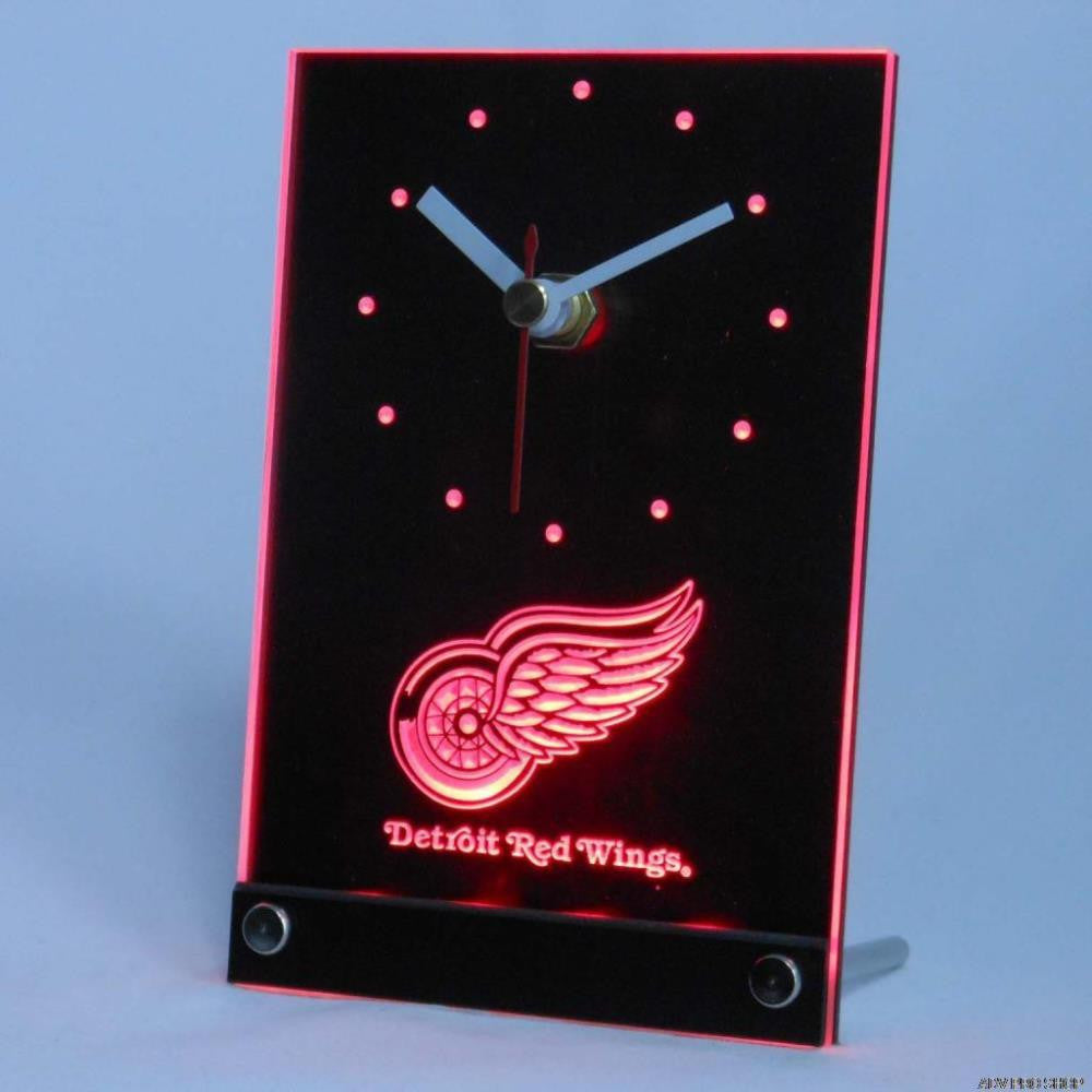 Detroit Red Wings Desk LED Clock -  - TheLedHeroes
