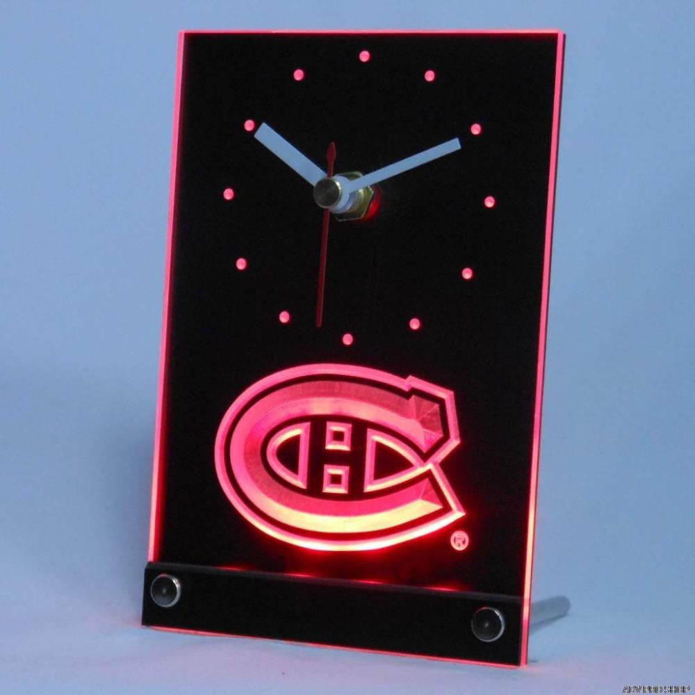 Montreal Canadiens Desk LED Clock -  - TheLedHeroes