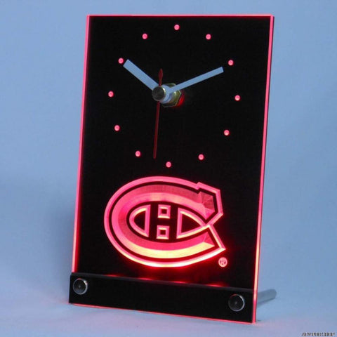 Montreal Canadiens Desk LED Clock