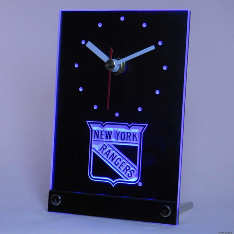 New York Rangers Desk LED Clock -  - TheLedHeroes