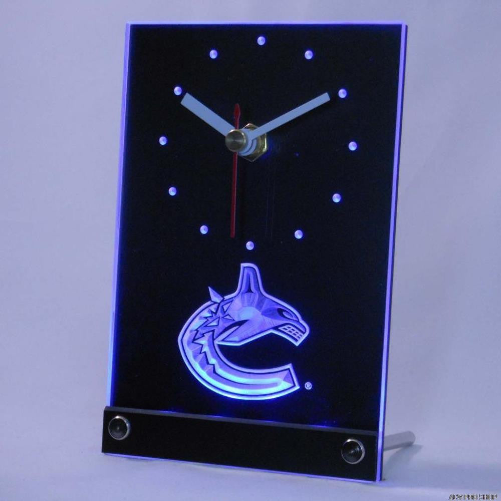 Vancouver Canucks Desk LED Clock -  - TheLedHeroes