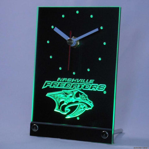 Nashville Predators Desk LED Clock -  - TheLedHeroes