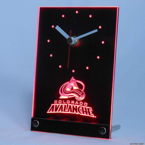 Colorado Avalanche Desk LED Clock -  - TheLedHeroes