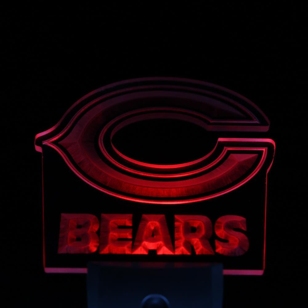 Chicago Bears Super Bowl Bar Day/ Night Sensor Led Night Light Sign