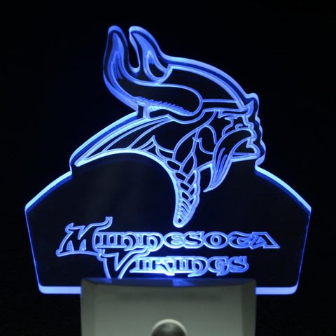 Minnesota Vikings Football Day/ Night Sensor Led Night Light Sign