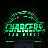 San Diego Chargers alternate Day/ Night Sensor Led Night Light Sign