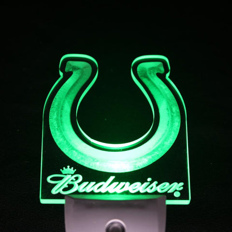 Indianapolis Colts Budweiser Day/ Night Sensor Led Night Light Sign