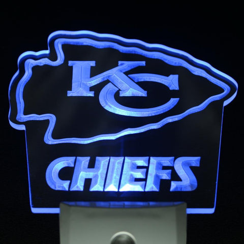 Kansas City Chiefs Bar Day/ Night Sensor Led Night Light Sign