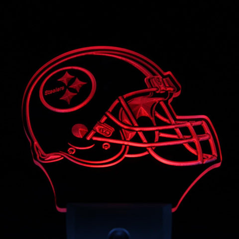 Pittsburgh Steelers Helmet Bar Day/ Night Sensor Led Night Light Sign