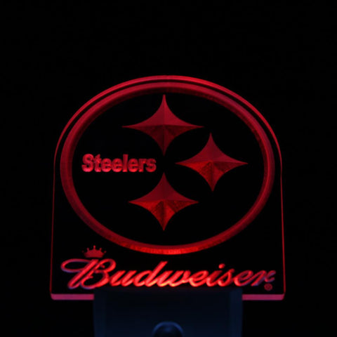 Pittsburgh Steelers Budweiser Day/ Night Sensor Led Night Light Sign
