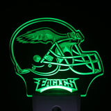 Philadelphia Eagles Helmet Day/ Night Sensor Led Night Light Sign