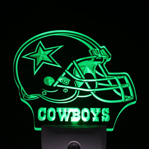 Dallas Cowboys Helmet Bar Day/ Night Sensor Led Night Light Sign