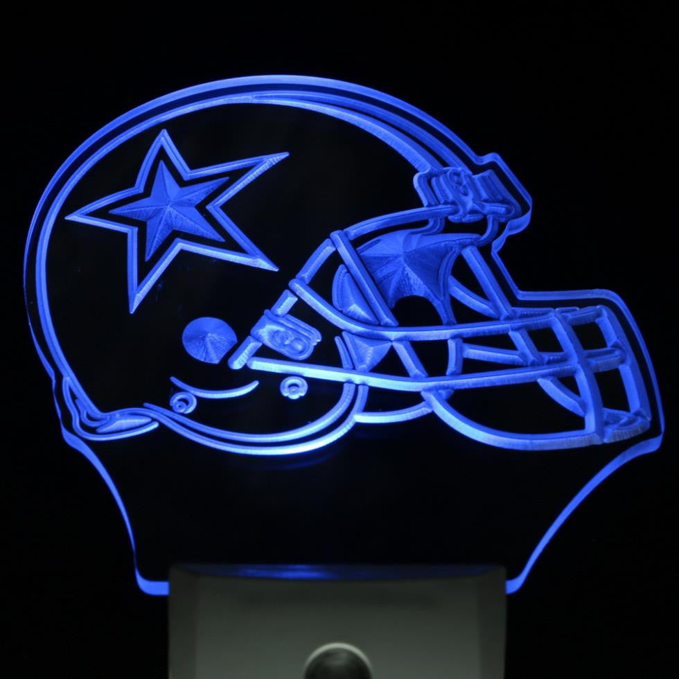 Dallas Cowboys Helmet Day/ Night Sensor Led Night Light Sign